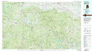 Haleyville topographical map