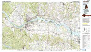 Tuscumbia 1:250,000 scale USGS topographic map 34087e1