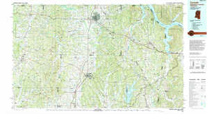 Corinth topographical map