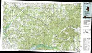 Holly Springs topographical map