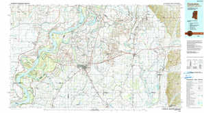 Clarksdale topographical map