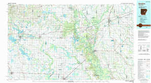 Brinkley topographical map
