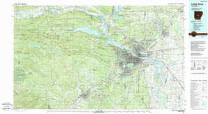 Little Rock topographical map