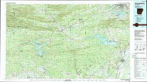 Arkadelphia topographical map