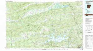 Lake Ouachita topographical map
