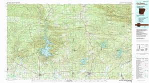 De Queen topographical map