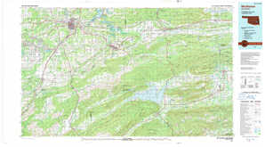 Mc Alester topographical map