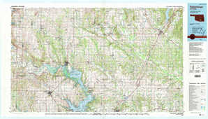 Tishomingo 1:250,000 scale USGS topographic map 34096a1