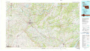 Ada topographical map