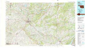 Ada 1:250,000 scale USGS topographic map 34096e1