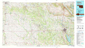 Ardmore 1:250,000 scale USGS topographic map 34097a1
