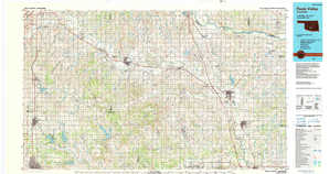 Pauls Valley 1:250,000 scale USGS topographic map 34097e1