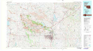 Lawton topographical map