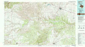 Childress topographical map
