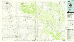 Tulia topographical map