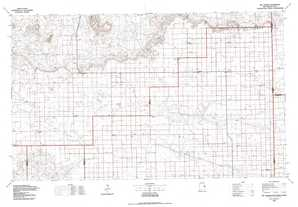 The Caprock topographical map