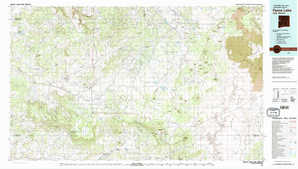 Fence Lake topographical map
