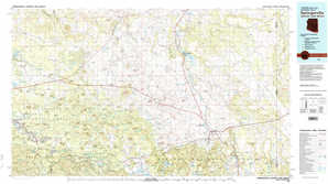 Springerville topographical map