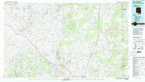Saint Johns topographical map