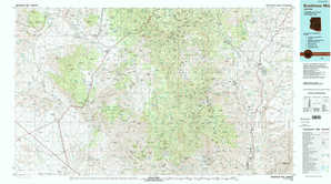 Bradshaw Mountains topographical map