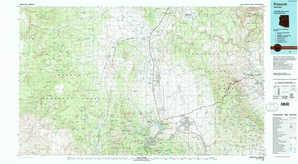 Prescott topographical map