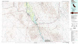 Needles topographical map