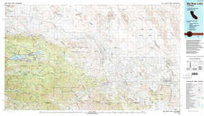 Big Bear Lake 1:250,000 scale USGS topographic map 34116a1