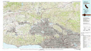 Los Angeles topographical map