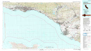 Santa Barbara topographical map