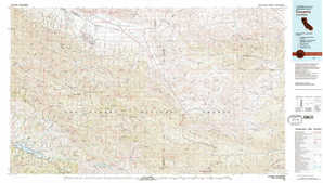 Cuyama topographical map