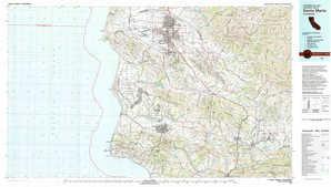 Santa Maria topographical map