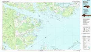 Bayboro topographical map
