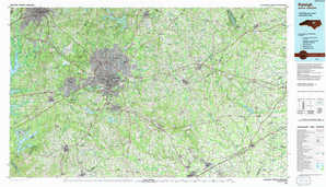 Raleigh topographical map