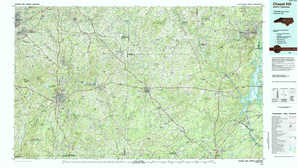 Chapel Hill topographical map