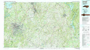 Charlotte topographical map