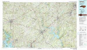Salisbury topographical map