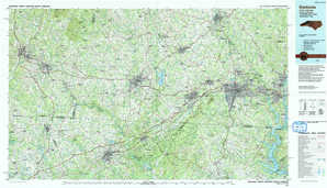 Gastonia topographical map