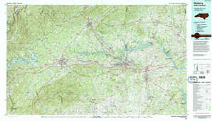 Hickory topographical map