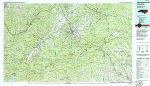 Hendersonville topographical map