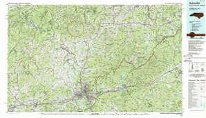 Asheville topographical map