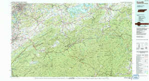 Knoxville topographical map