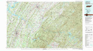 Cleveland topographical map