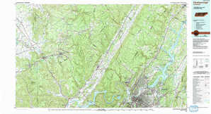 Chattanooga topographical map