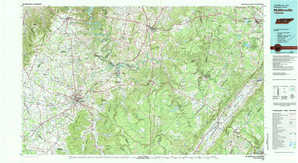 Mc Minnville topographical map