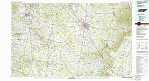 Murfreesboro topographical map