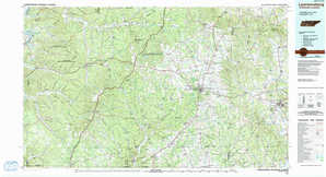 Lawrenceburg topographical map