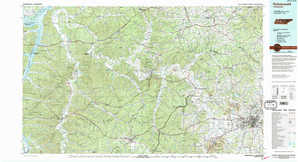 Hohenwald topographical map