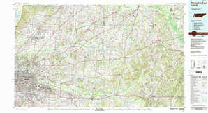 Memphis East 1:250,000 scale USGS topographic map 35089a1