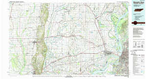 Memphis West topographical map