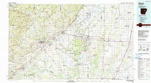 Searcy topographical map
